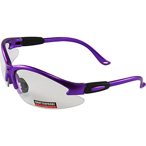 (Global Vision Cougar Purple Frame Safety Glasses Clear)