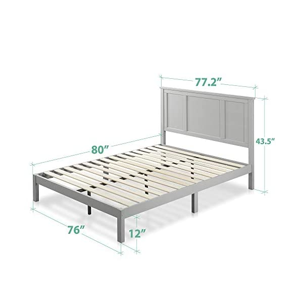 ZINUS Andrew Wood Platform Bed Frame / Wood Slat Support / No Box Spring Needed / Easy Assembly, King