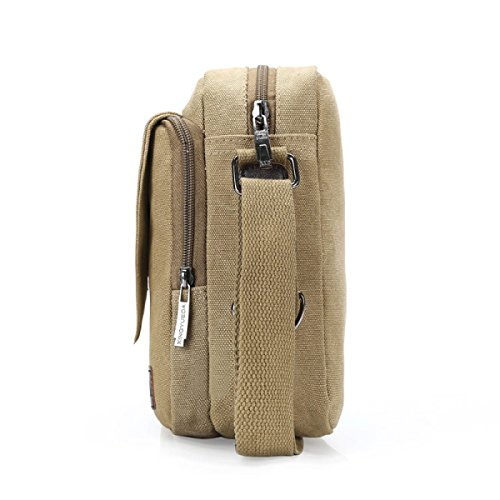 Männer Und Frauen Jahrgang Leinwand Schulter Aktentasche Messenger Tote Schule Outdoor Tasche,A-OneSize