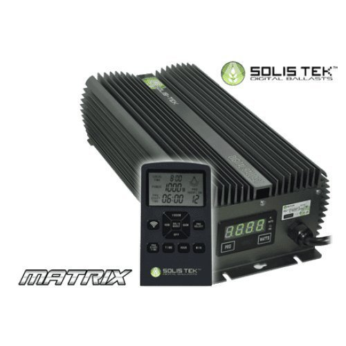 1 120v Remote Ballast - SolisTek MATRIX 1000W Version 2.0 SE/DE (Single & Double Ended) 1000 Watt Digital LCD Screen Ballast 120/240 Volt (208V Compatible)