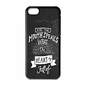 XiFu*Meiipod touch 4 Case,Mouth Speaks What The Heart Is Full Of Hard Shell Back Case for Black ipod touch 4 Okaycosama377548XiFu*Mei