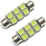 YKS 38mm White 6 SMD LED Car Interior Dome Light Lamp Bulb DC 12V New