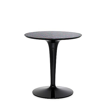 Amazon Com Kartell Tip Top Black Table With La Double J Picnic