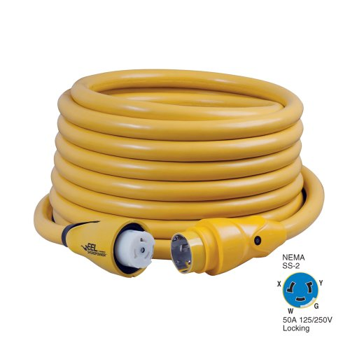 New 50a Eel Shorepower Cordsets marinco/guest/afi/nicro/bep Cs504-50 Rating 50A 125/250V Length 50' Yellow