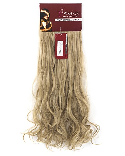 8Pcs 18 Clips 17-26 Inch Curly Straight Full Head Clip in on Hair Extensions Women Lady Hairpiece,Ash Blonde Mix Bleach Blone#1,24 Inch-Curly by DODOING (Image #5)