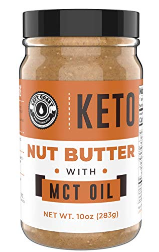 Keto Nut Butter Fat Bomb [Crunchy], New 10 Oz Size! Macadamia Low Carb Nut Butter Blend (1 net carb), Keto Almond Butter with MCT Oil, Left Coast Performance