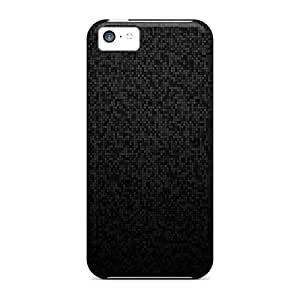 Shock-dirt Proof Pixel Pattern Dark Case Cover For Iphone 5c