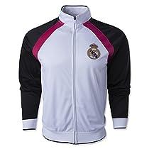 Real Madrid Track Jacket (White/Black/Pink) Large