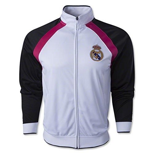 - Real Madrid Track Jacket (White/Black/Pink) Large