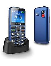Ushining GSM Seniorenhandy, Günstig Handy ohne Vertrag 2,4 Zoll Farbdisplay, Großtasten Mobiltelefon mit Kamera, Dual-SIM, SOS Notruftaste, Taschenlampe - Dunkelblau