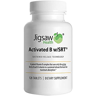 Jigsaw Health Activated B Complex w/SRT - Highly Absorbable - 120 count