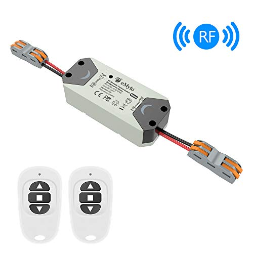 eMylo Smart Wireless RF Motor Controller Switch RF Relay Module DC 12V Motor Remote Control Switch 5V-24V 433Mhz Support rolling door/electric curtains/locks/water pump Control Motor Forward/Reverse