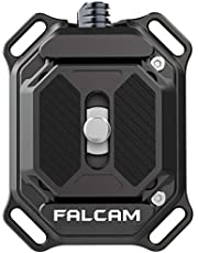 """FALCAM F38 Quick Release Shoulder Strap Clip, 38mm Universal Camera Mounting Adapter w 1/4"""" to 3/8"""" Screw, Aluminum Quick Release System QR Plate, Fits for Sony Canon Monopod DSLR Stabilizer Slider"""
