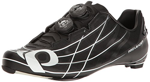 Pearl Izumi Pro Leader III Cycling Shoe, Black/White, 46 EU/11.5 D US