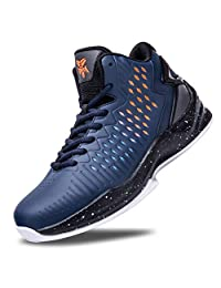 Beita Men's Basketball Shoes Fashion Sneakers for Teen Boys High Top Athletic Sport Shoes Anti Slip