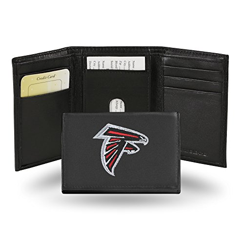 (Rico Industries NFL Atlanta Falcons Embroidered Leather Trifold Wallet)