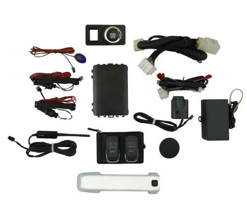 EasyGO AM-TUN-CHR Smart Key Remote Start and Alarm System with Chrome Driver's Door Handle for Toyota Tundra