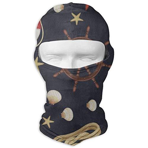Balaclava Nautical Lighthouse Anchor Starfish Seashell Full Face Masks Ski Sports Cap Motorcycle Neck Hood Cycling