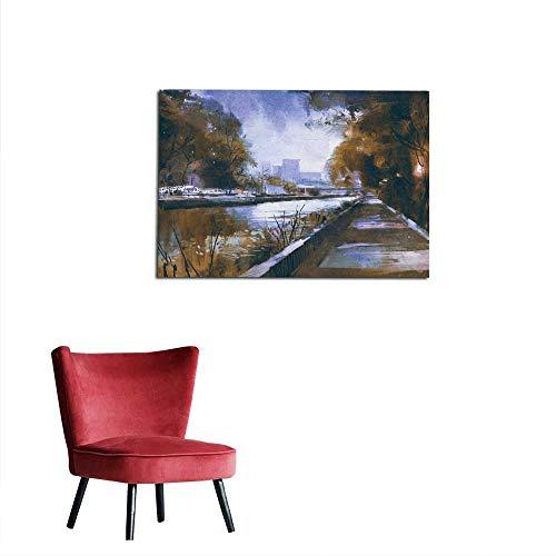 homehot Wallpaper Riverside Walkway in a Tranquil City