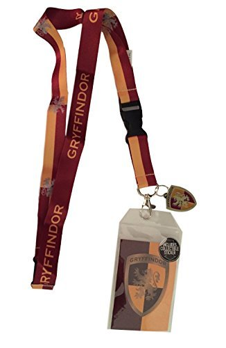 (Harry Potter Gryffindor Doublesided Lanyard Keychain ID Holder & Charm & Sticker)