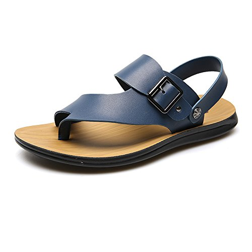Sunny Orange Color Leather Size Anti amp;Baby Skid Men's Sandals Blue 7MUS PnOrfpPq