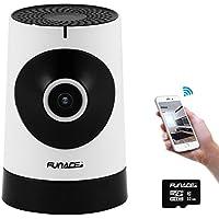 FunAce 180 Wide Angle WiFi IP Network Wireless HD Camera with 32 GB MicroSD Card