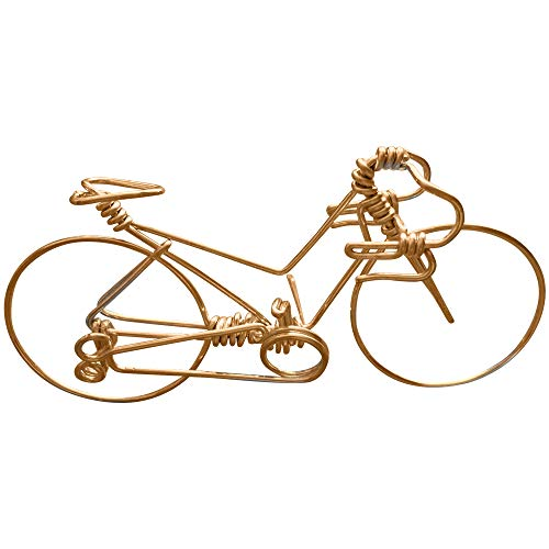 Handcrafted Men & Women Road Bikes Medium ~ Unique Biking Gifts for Cyclists as Cake Toppers ~ Handmade with One Whole Aluminum Wire w/No Single Break