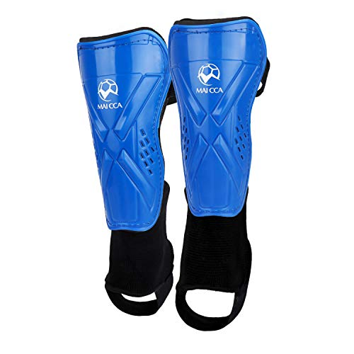 - ActionEliters Youth Soccer Shin Pad Shin Guards,Lightweight and Breathable Child Calf Protective Gear Soccer Equipment for 5-12 Years Old Boys Girls Children Teenagers (Blue/Black)