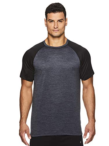 Gaiam Men's Raglan Crew Neck T Shirt