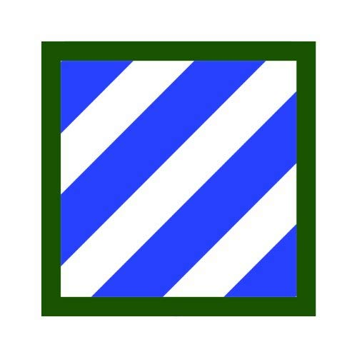 Magnet US Army 3rd Infantry Division Patch Magnetic Vinyl Car Magnet Bumper Sticker