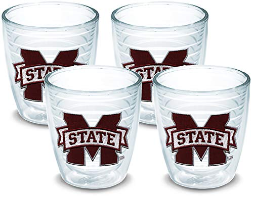 Tervis 1033332 Mississippi State Bulldogs Logo Tumbler with Emblem 4 Pack 12oz, ()