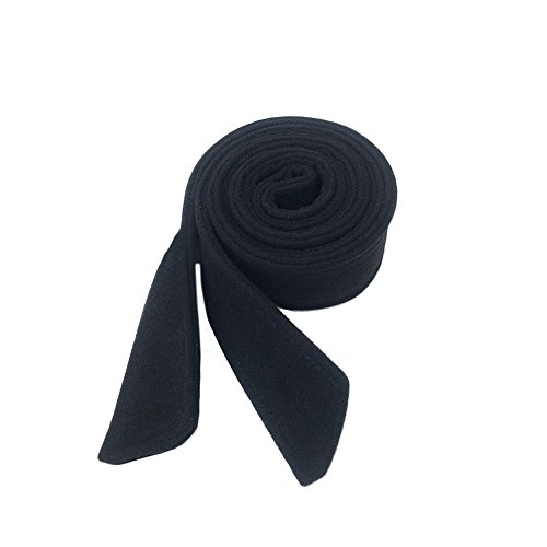 Price comparison product image Anjing 5cm Width Wool Woman Ladies Waist belt for Coat Dress Black