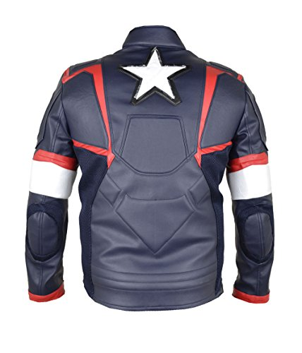 HLS Men's Captain America Ultron Multi Color faux leather jacket