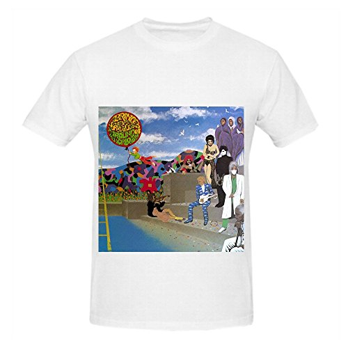 Prince Around The World In A Day Mens Crew Neck Music Tee White
