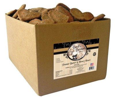 Basil & Baxter'S Peanut Butter Honey Large Heart Biscuits Usa - 10 Lb