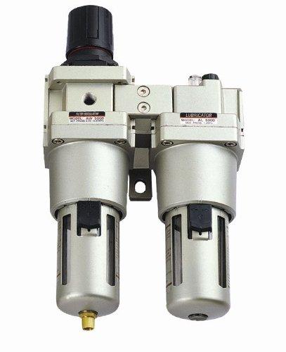 MettleAir AC5010-N06-1PK Air Filter/Regulator/Lubricator with Gauge, 4000 L/minute, 3/4'' NPT by MettleAir