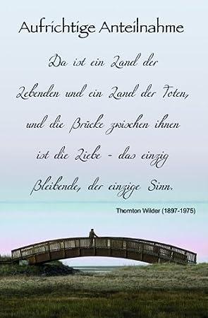 trauerspruch für karte Karte Trauer Spruch Brücke, Liefermenge = 5: Amazon.de: Bürobedarf