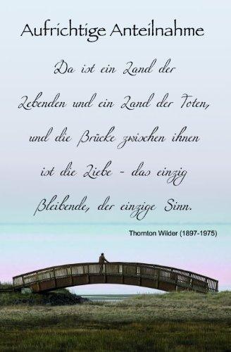Karte Trauer Spruch Brücke, Liefermenge U003d 5