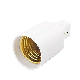 leoboone Retardante de llama PBT G24 a E27 LED de la base del zócalo Tornillo de