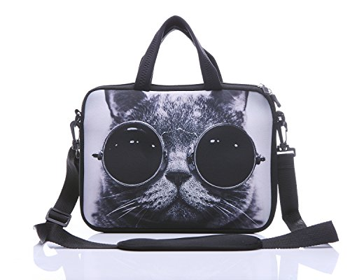 14 Inch Neoprene Laptop Sleeve Case Bag with shoulder strap