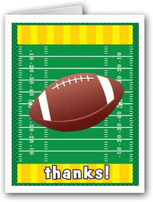 Football Stationary Football Card American Football Football Thank You Card Personalized Note Card Football Note Card Kids Note Card