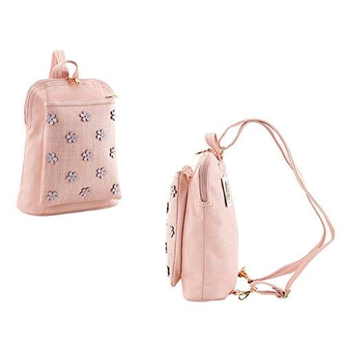 mode sac rose à PU femmes été 31cm en 2017 27 HUWAI nouveau 11 rose dos et printemps w4qpzvvH