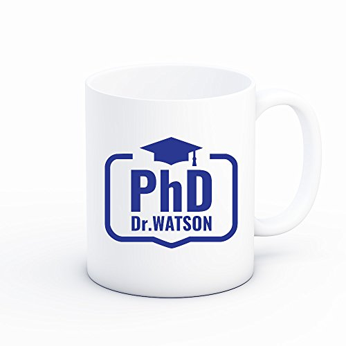 Froolu PhD Graduation Personalized Coffee Mug – Unique Gifts for College, University & School Grad Students by Froolu (Image #1)