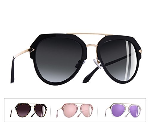 sol Mujer Gris Gafas De mujer Espejo clásicas Gris Gafas de espejo de aviador Sol Gafas polarizadas Polarizadas piloto sol mujer Gafas ROEYRqw