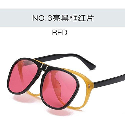Gafas Mujer Flip Gafas Película De Ocean De Sol Personalizadas Gafas De Creativas Gafas De Sol JUNHONGZHANG roja Sol Pc Film De Porno ZdTqwTI