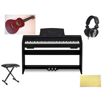casio privia px 750 digital piano home bundle w free uke black px750bk uke. Black Bedroom Furniture Sets. Home Design Ideas