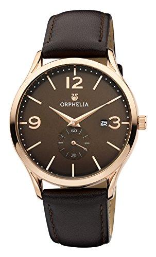 ORPHELIA Tiempo Brown Leather Strap-OR61704