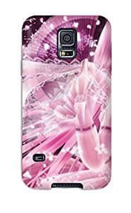 Galaxy S5 Case Slim [ultra Fit] Pink Girl Protective Case Cover