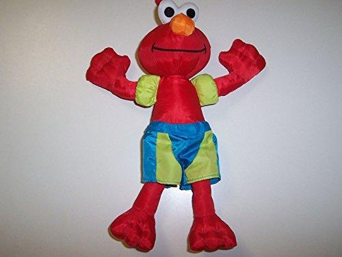 2007 Sesame Street's Elmo Wearing Swim Trunks & Arm Floats Bath or Pool Toy
