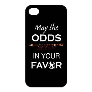 The Hunger Games Quote MAY THE ODDS BE EVER IN YOUR FAVOR Unique Apple Iphone 4 4S Durable Hard Plastic Case Cover CustomDIY